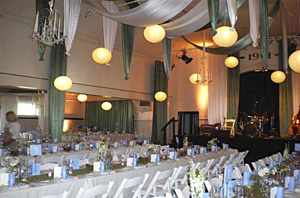 Crown Hall decorated for a wedding reception. Photo courtesy of Matt Rowland Events